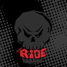 Dark Black Skull: Just Ride by creativeburn
