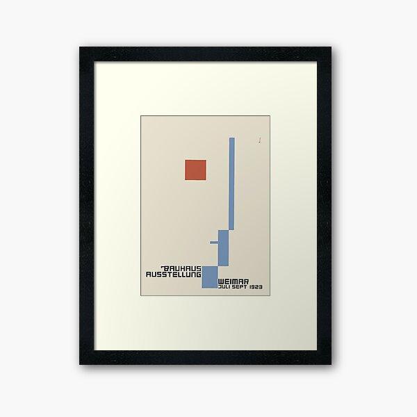 Bauhaus Exhibition Poster Collection 1923 - Avantgarde Arts No 7 Framed Art Print