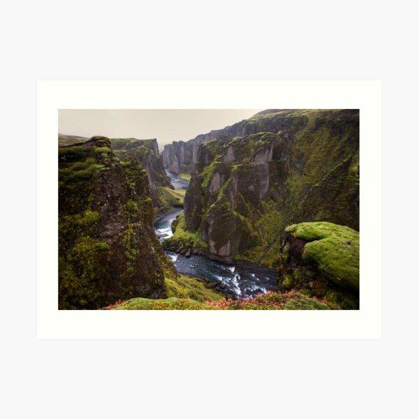 The Fjaðrárgljúfur canyon Art Print