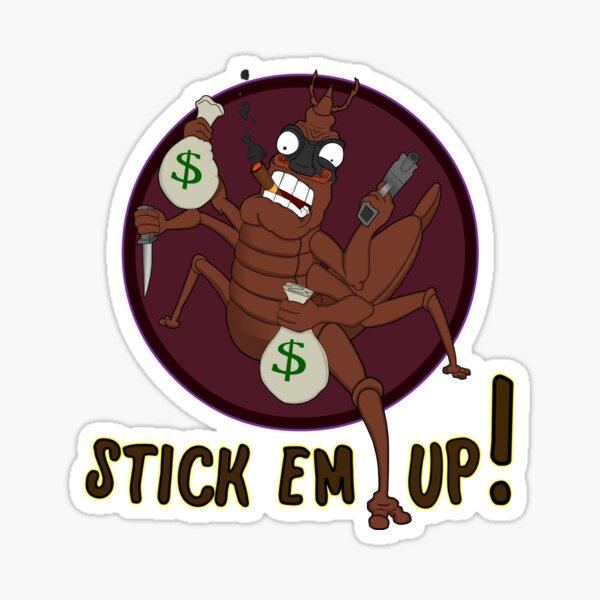 Stick Em Up Stickbug Sticker