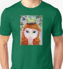 Girl With Apple On Her Head Unisex T-Shirt