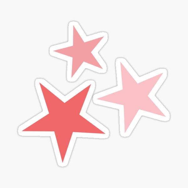 Star Set in Coral Sticker