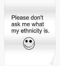Ethnicity Bubble Poster