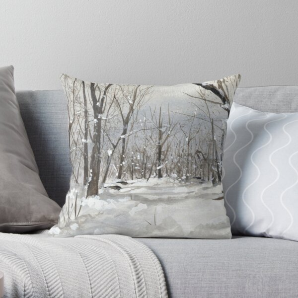 Foret enneigée Coussin
