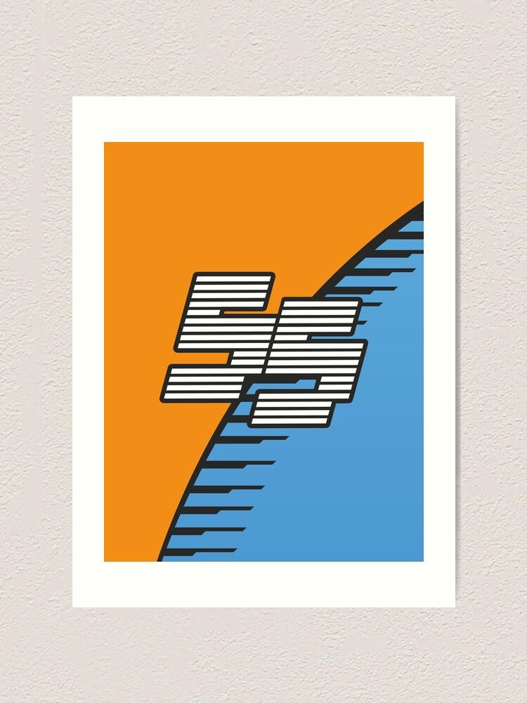 Mclaren F1 2020 Carlos Sainz 55 Art Print By Thezestyoranges Redbubble