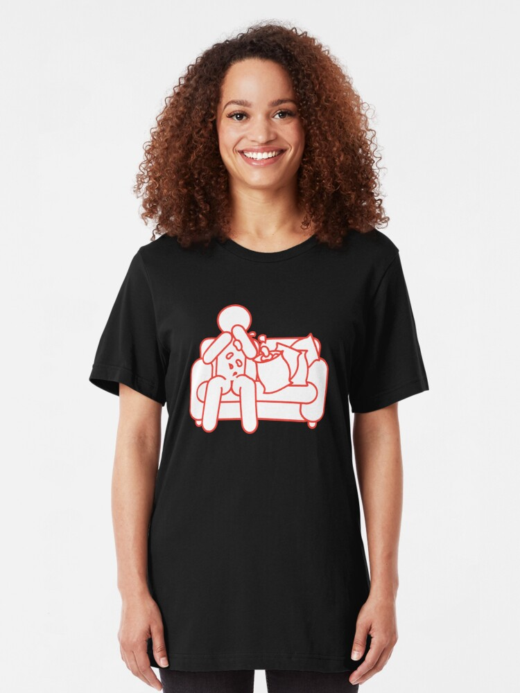 Alternate view of Chipping Out On The Couch Slim Fit T-Shirt