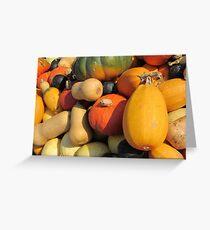 Pumpkins & Squashes Greeting Card