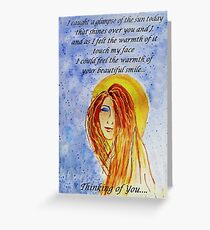 Greeting Card - Thinking of You and Your Smile... Greeting Card
