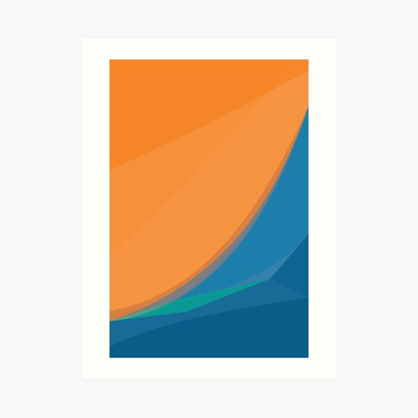 Orange Wave Art Print