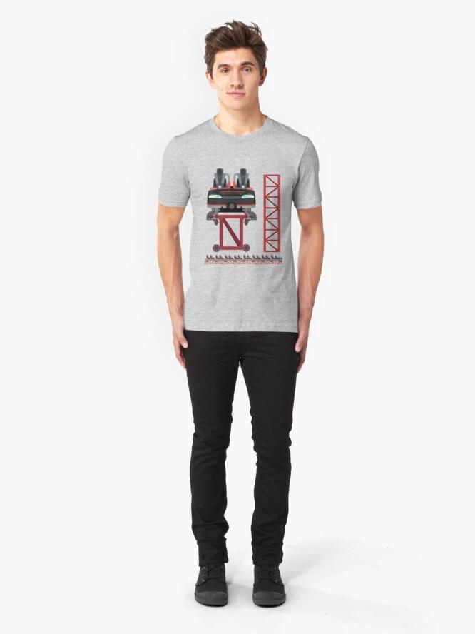Alternate view of Intimidator Train Design - Kings Dominion Intamin Giga Coaster Slim Fit T-Shirt