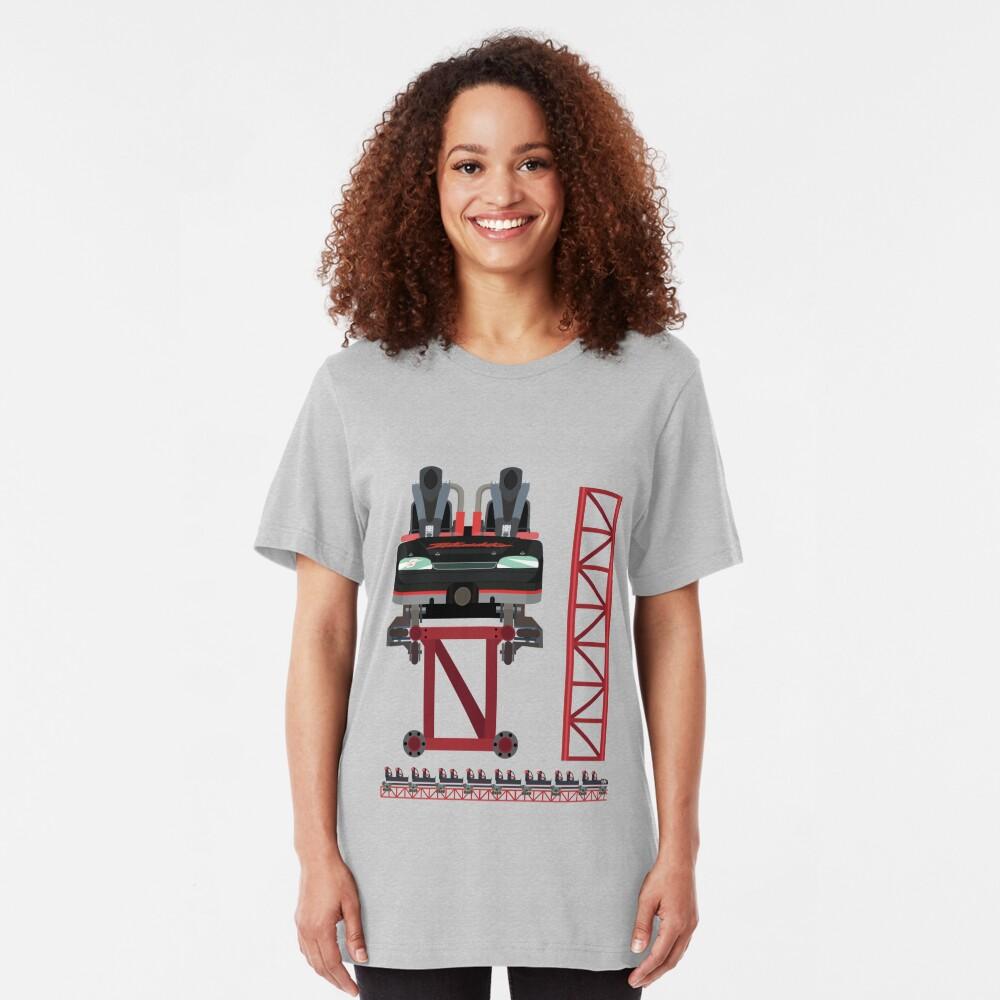 Intimidator Train Design - Kings Dominion Intamin Giga Coaster Slim Fit T-Shirt