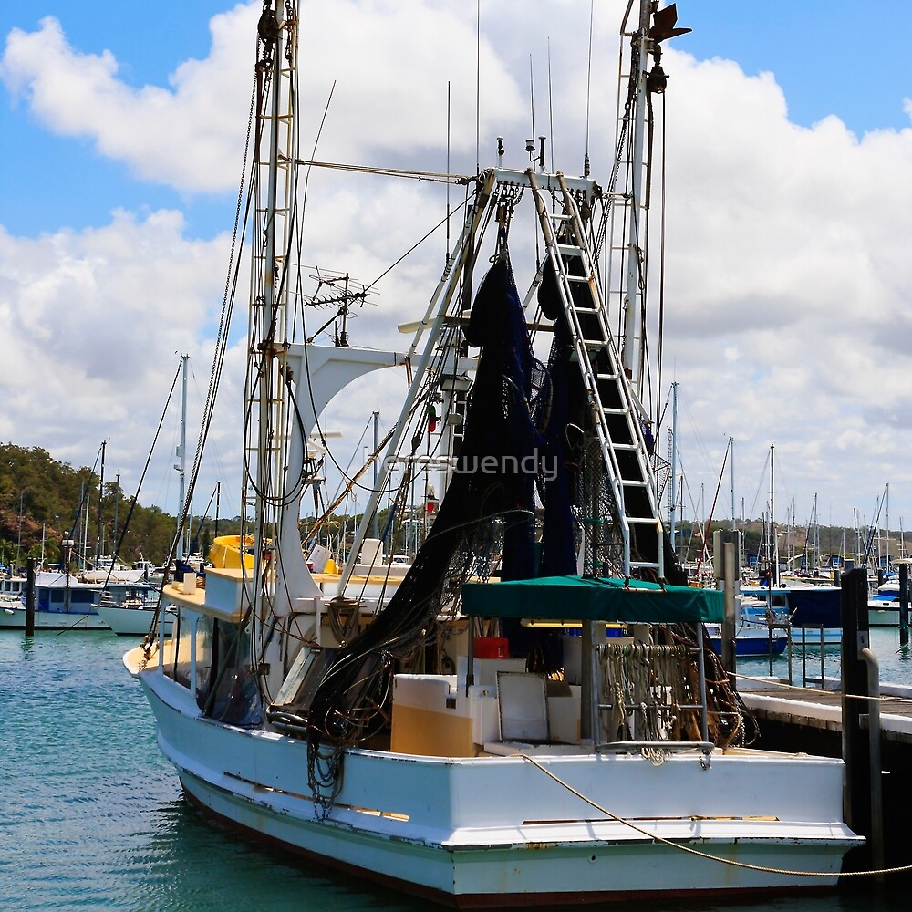 Moored Boat in Harbour by hereswendy