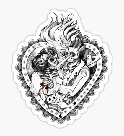 Day of the Dead Ancient Lovers Sticker