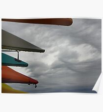 Clouds and Kayaks  Poster