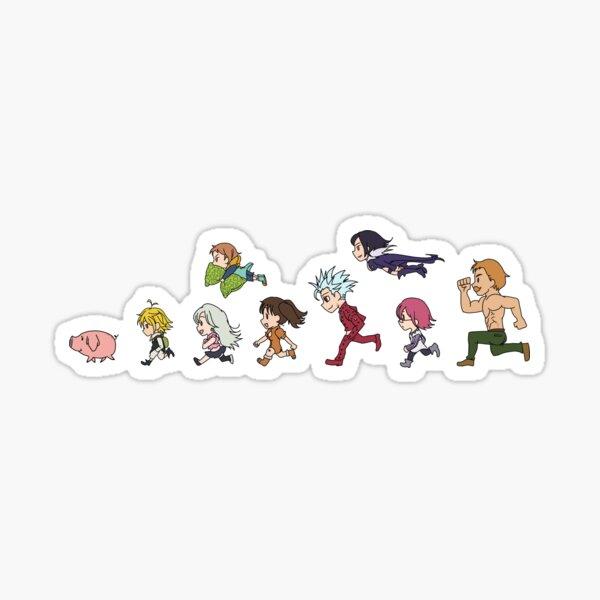 Seven Deadly Sins - Running Chibi Sticker
