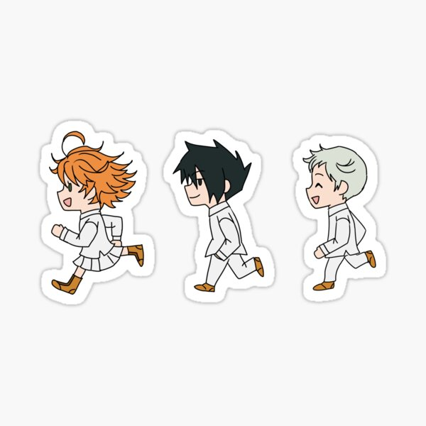 The Promised Neverland - Running Chibi Sticker