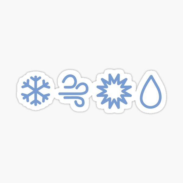 Heartbreak Weather Logo Blue Sticker By Aviaxaviax Redbubble