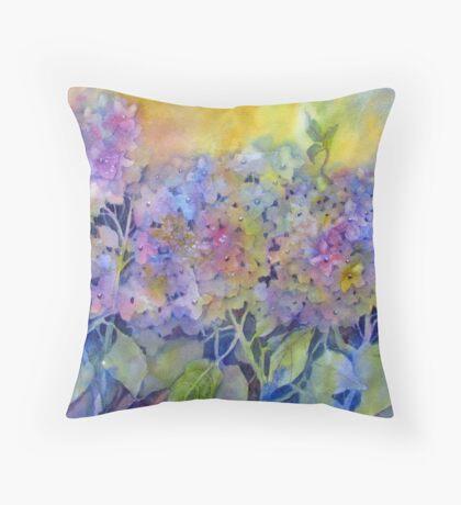 Lin's Hydrangea Throw Pillow