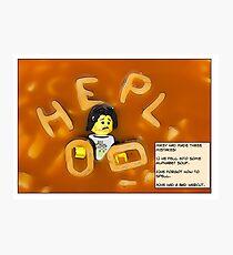 Alphabet Soup. Photographic Print
