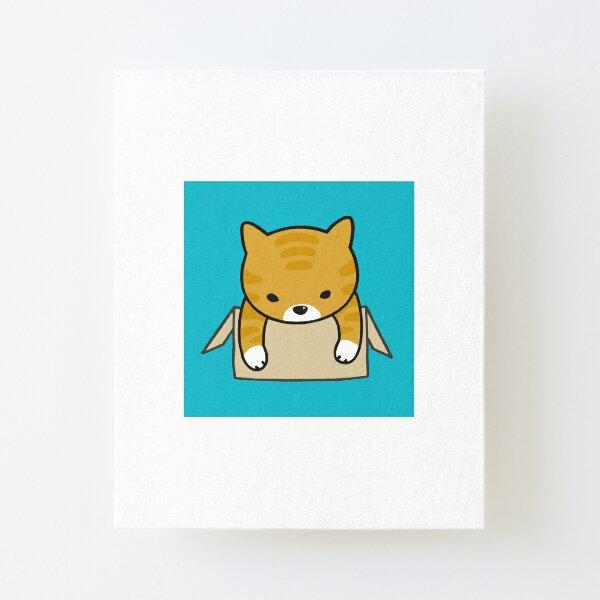 Cute Orange cat Canvas Mounted Print