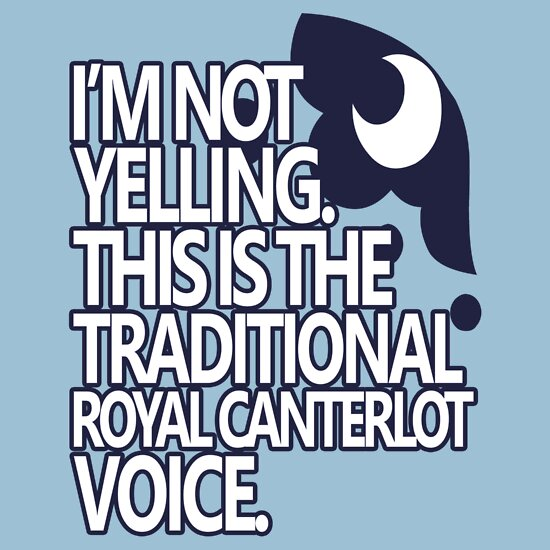 TShirtGifter presents: Princess Luna - Royal Canterlot Voice