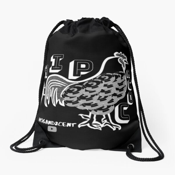 Money Rooster inverse Drawstring Bag