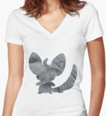 Minccino used tail slap Women's Fitted V-Neck T-Shirt