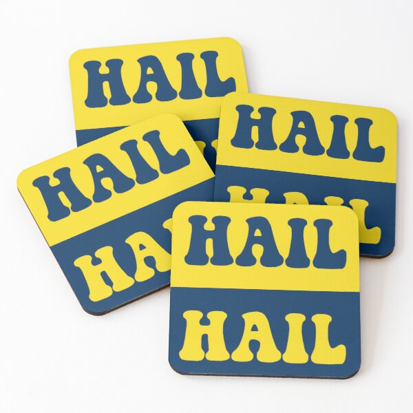 Hail Umich Coasters (Set of 4)