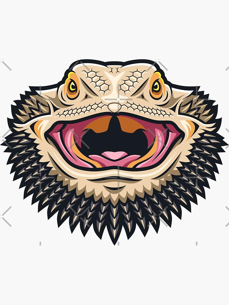 Fierce Bearded Dragon by PogonaVitticeps