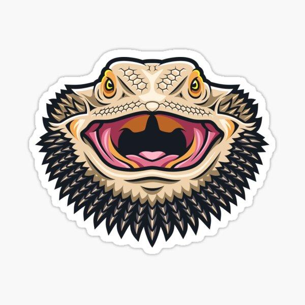 Fierce Bearded Dragon Sticker