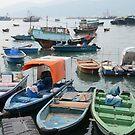 Fishing boats of Cheung Chau, Hong Kong by turningjapanese