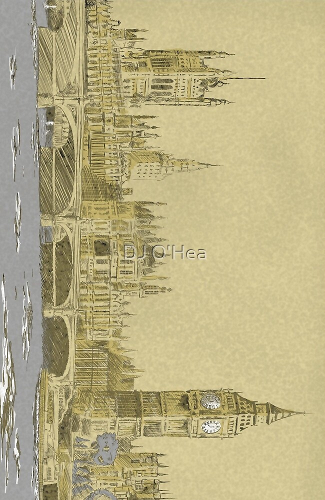 A Sketch of London by DJ O'Hea