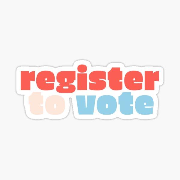 Register To Vote Sticker