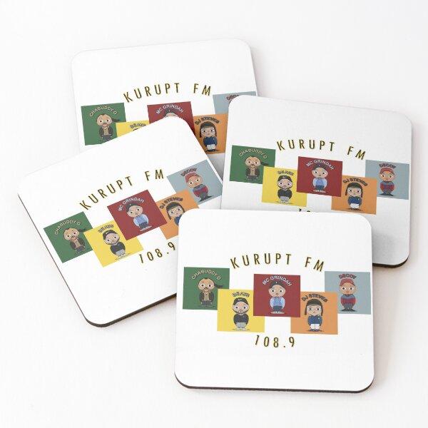 Kurupt FM 108.9 Coasters (Set of 4)