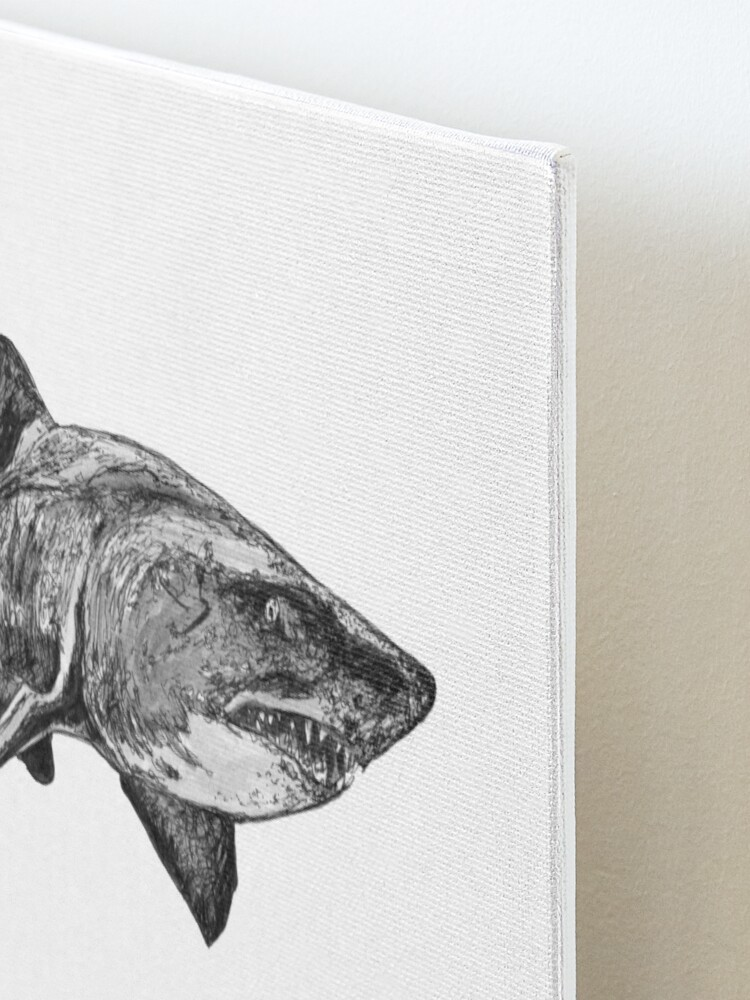 Alternate view of Mark the Grey Nurse Shark Mounted Print