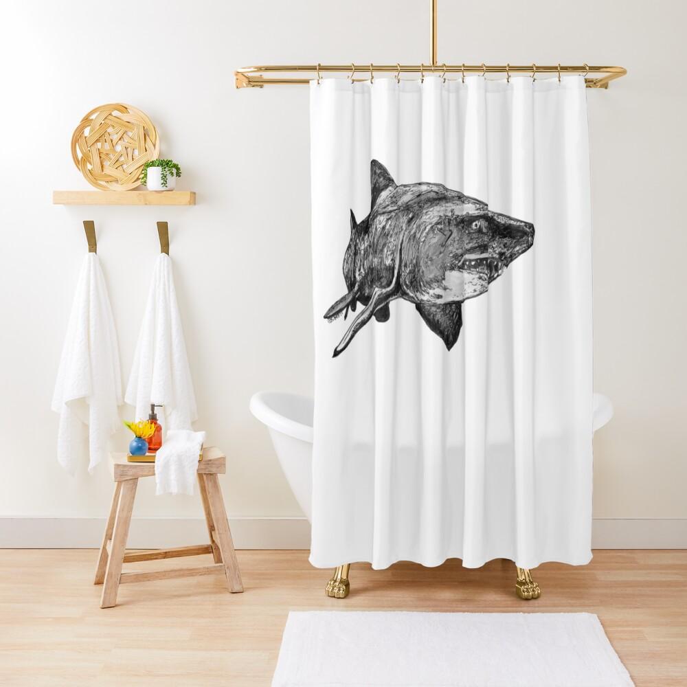 Mark the Grey Nurse Shark Shower Curtain