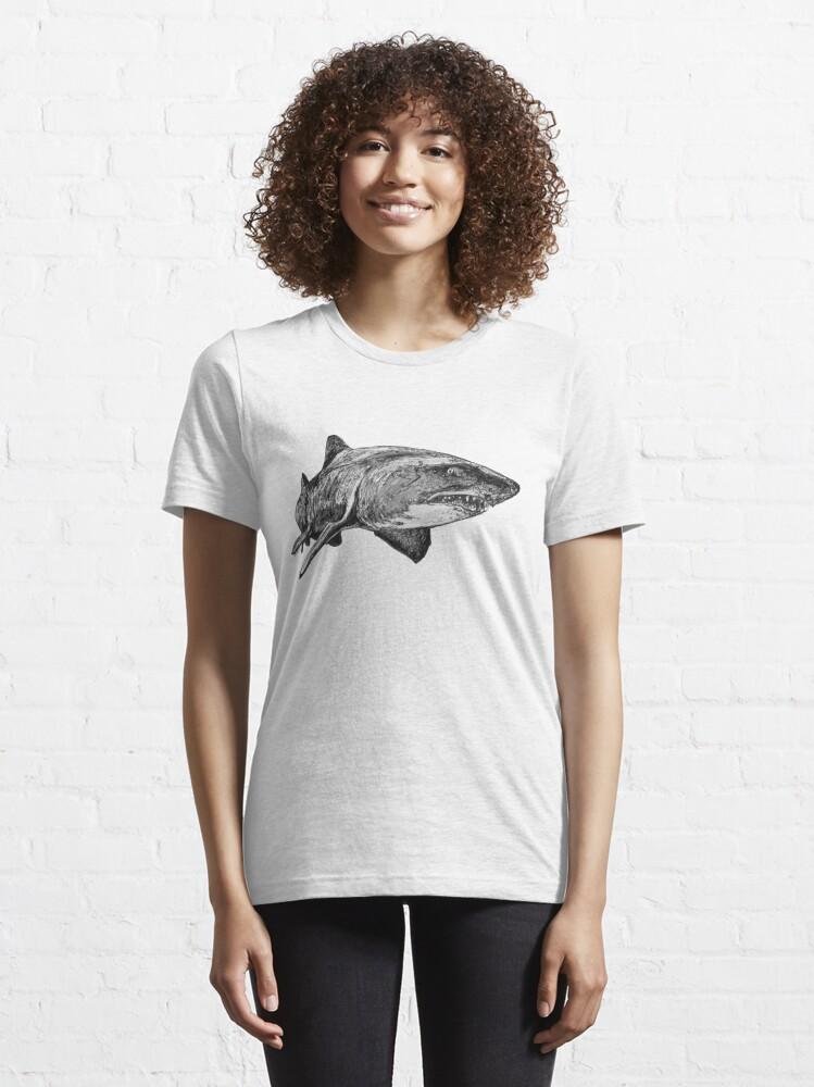 Alternate view of Mark the Grey Nurse Shark Essential T-Shirt