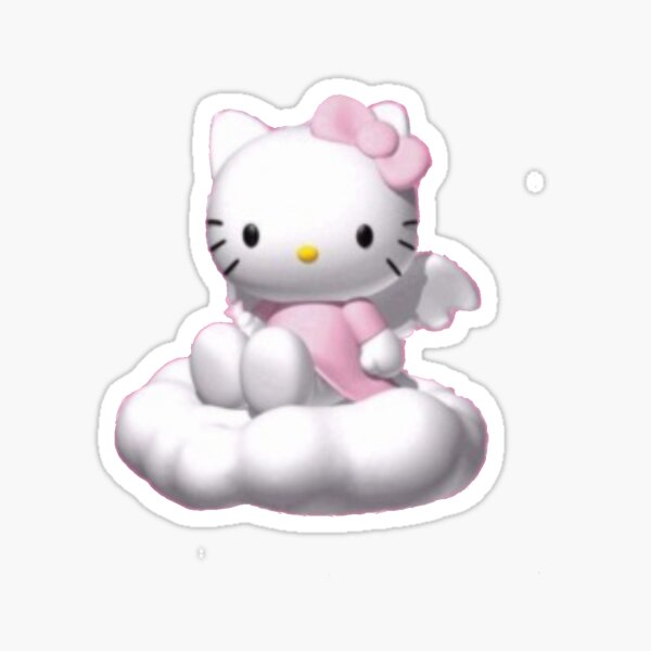 Cloudy Kitty Sticker