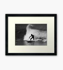 Surfer in Black And White Framed Print