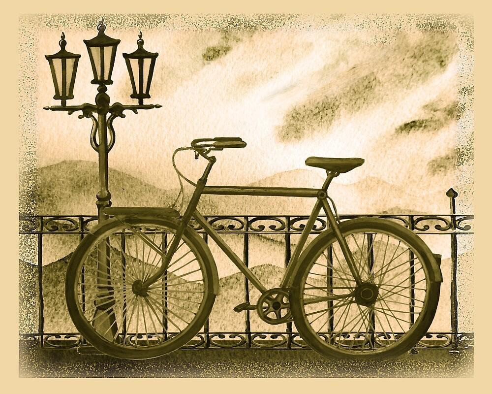 Retro Bicycle by Irina Sztukowski