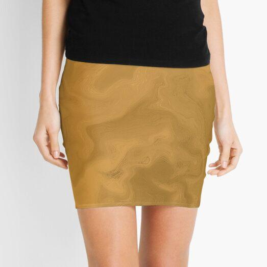 Gold marble Mini Skirt