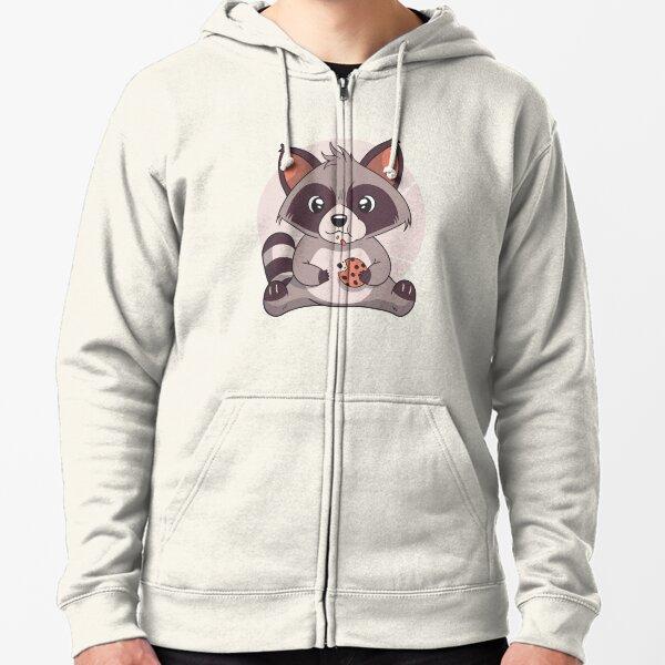 Square Animal Cartoon Raccoon Kids Fashion Popular Hooded Hoodies With Pocket