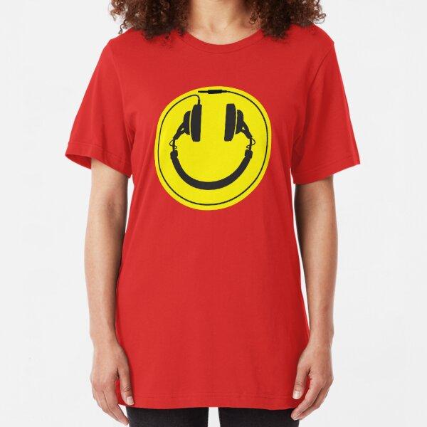 Headphones wire plug Slim Fit T-Shirt
