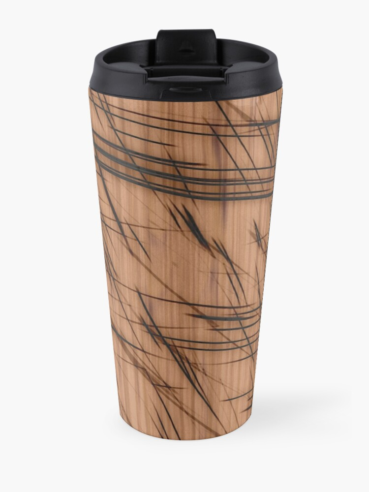 Alternate view of Burned lines Travel Mug