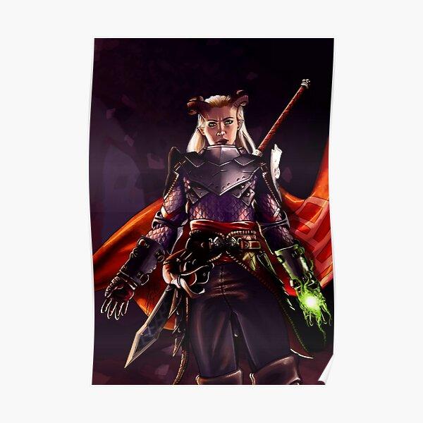 Eva the Qunari warrior Poster