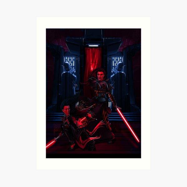 Sith dueling Art Print
