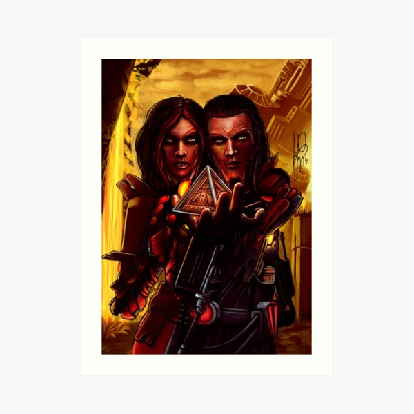 Sith twins selfie Art Print