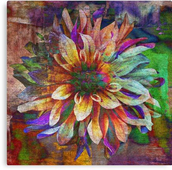 Colorful Dahlia - Digital Art Print by avalonmedia