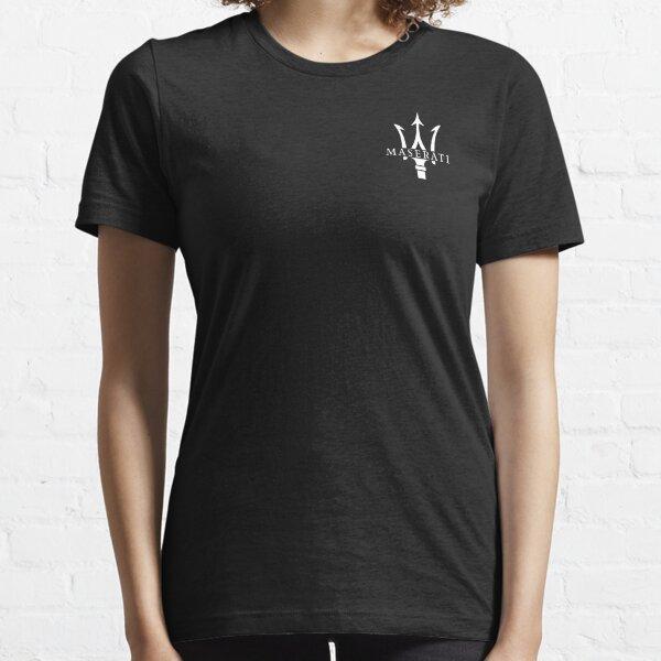 Logo Maserati Blanc T-shirt essentiel