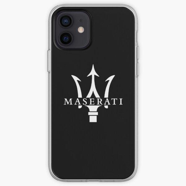 Logo Maserati Blanc Coque souple iPhone